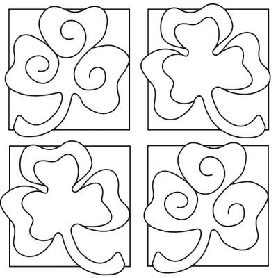 Printable Shamrock Coloring Sheets {St Patricks Coloring Pages}