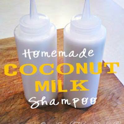 DIY Coconut Milk Shampoo {Hair Treatments}