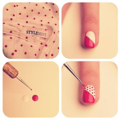 Perfect Polka Dot Manicure Tutorial {Nails}
