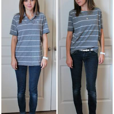 Polo Shirt Refashion  Tops  – Tip Junkie 515681f17