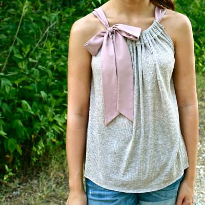 Whimsical Bow Top Tutorial {Tops}