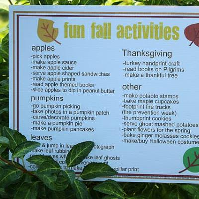 Fun Fall Activites for Kids {Activity Printables}