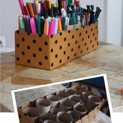 10 Minute Marker DIY Organizer {Art Supplies}