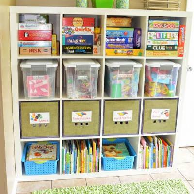 6 Tips to Organize a Kids Craft Space {Craft Room}