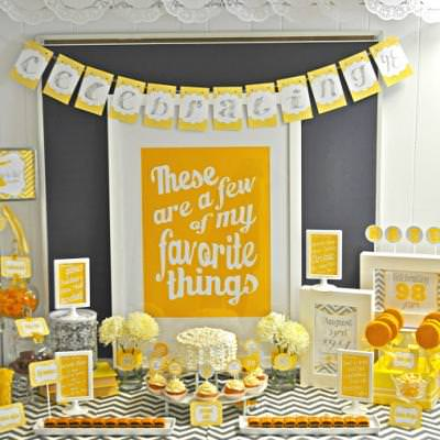 A Few of My Favorite Things Party {The Sound of Music}