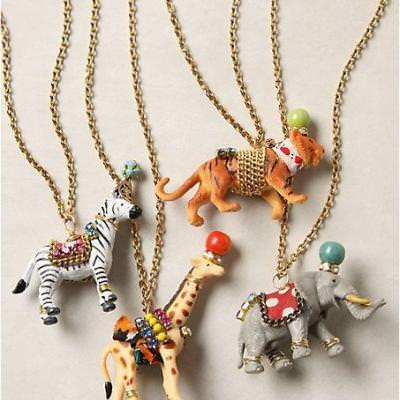 Anthropology Inspired Circus Animal Necklace {Necklaces}