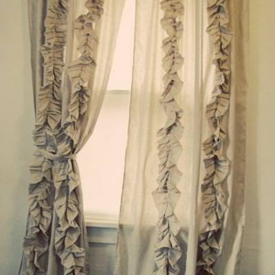Anthropology Inspired Ruffle Curtains {Drapes}