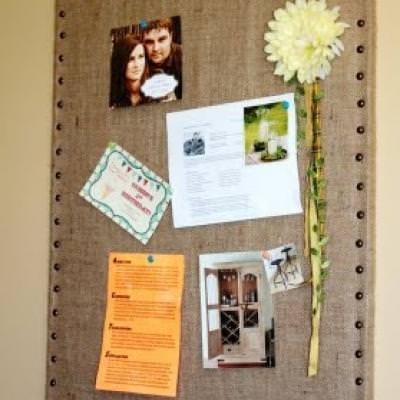 Ballard Designs Inspired Burlap Message Boards {Wall Accents}