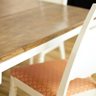 Before and After Dining Room Table and Chairs {Dining Chairs}