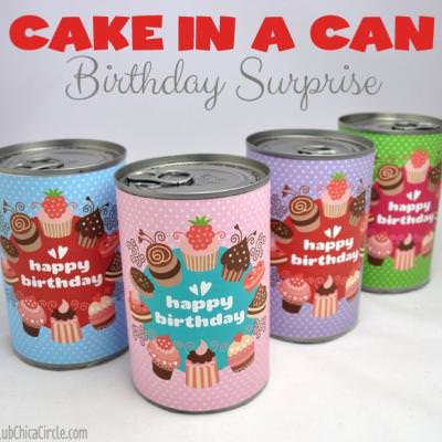 Birthday Cake in a Can {gifts}