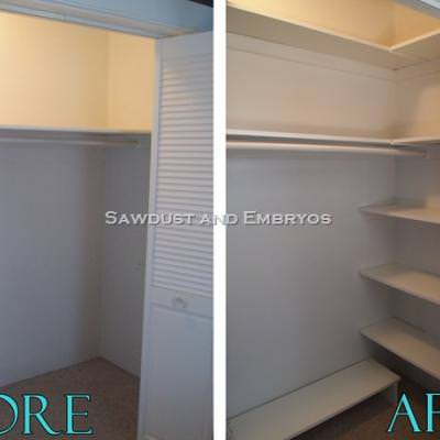 Building Your Own Custom Shelving {Closet Organization}