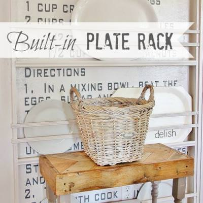 Built-In Plate Rack {Kitchen Decor}