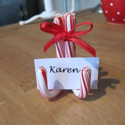 Candy Cane Place Card Holder {Holiday Entertaining}