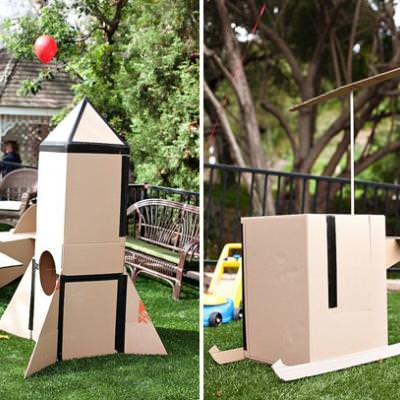 Cardboard Box Party {toddler birthday party}