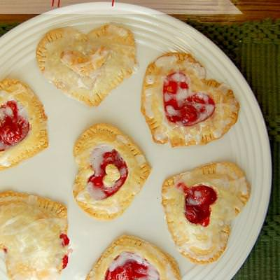 Cherry and Cream Cheese Heart Pies {Valentines Day Recipes}