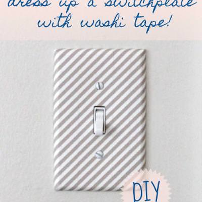 Chic and Easy Switch Plates {Wall Accent}