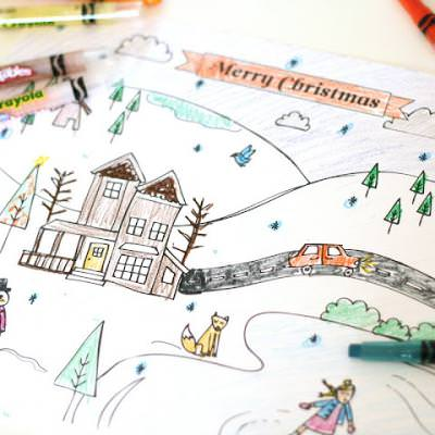 Christmas Coloring Page {Christmas Printable}