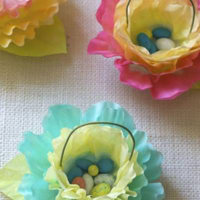 Coffee Filter Flower Baskets {Easter Crafts}
