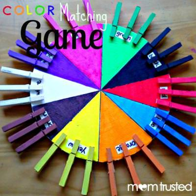Color Matching Games DIY {About Colors}
