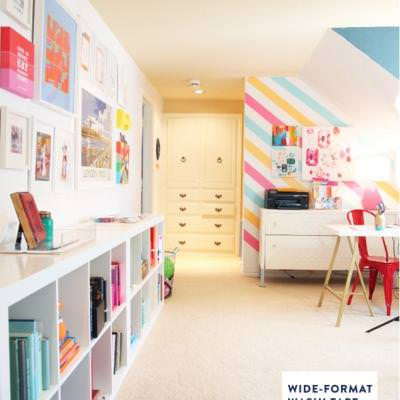 Colorful Living and Play Room Reveal {Using Color}