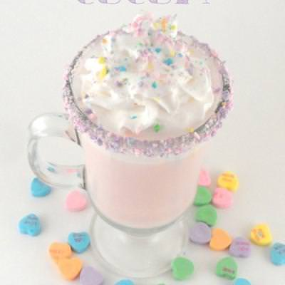 Conversation Heart Hot Cocoa {Valentines Food & Recipes}