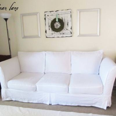 Couch Slipcover DIY {Slipcovers}