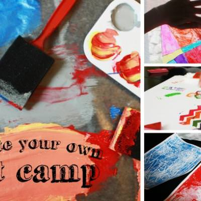 Create Your Own Art Camp {Arts and Crafts}