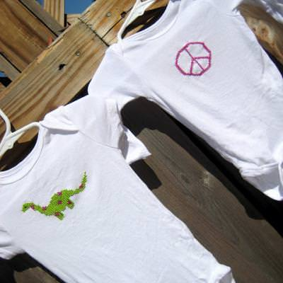 Cross Stitch Onesies {Baby}