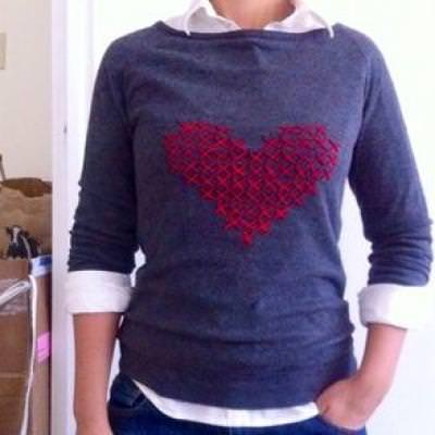Custom Cross-Stitch Sweater {Clothing}