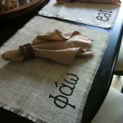 DIY Burlap Placemats {Tutorial}