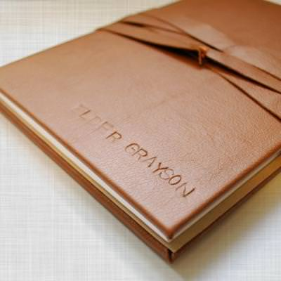 DIY Leather Journal {gifts for men}