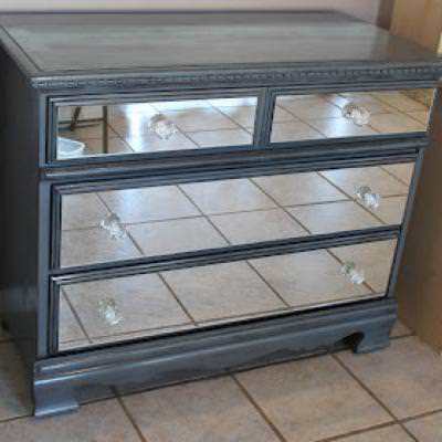 DIY Mirrored Dresser {Armoires & Cabinets}