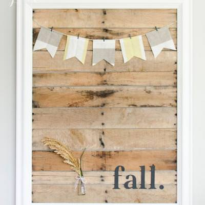 DIY Pallet Art Display {fall craft}