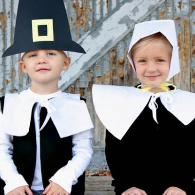 DIY Pilgrim Outfits {pilgrims for kids}