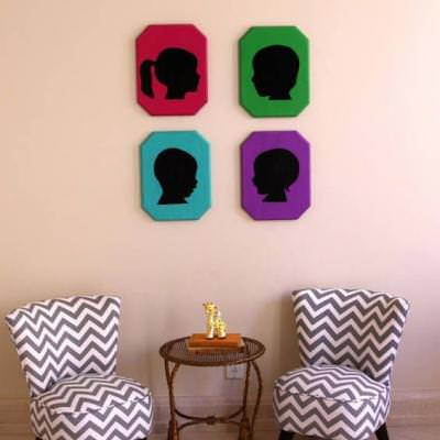 DIY Pop Silhouette Art {Memorabilia}