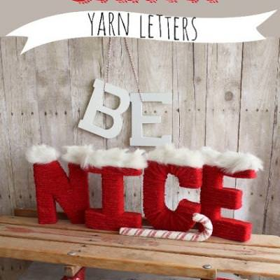 DIY Santa Yarn Letters {christmas crafts}