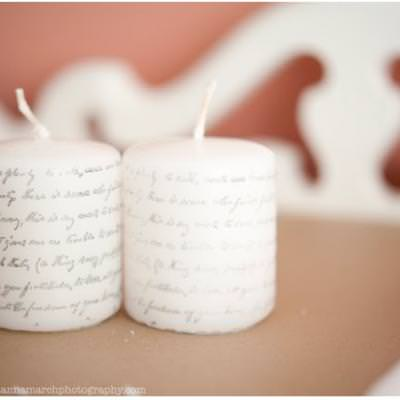 DIY Stamp Printed Candles {How-To}