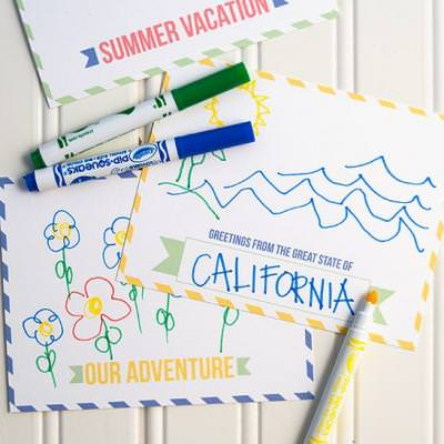 Summer Vacation Postcards {diy}
