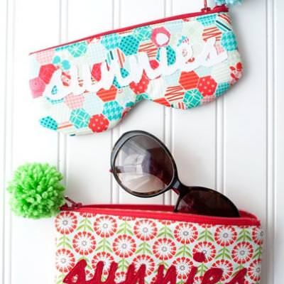 DIY Sunglass Case {sewing how-to}