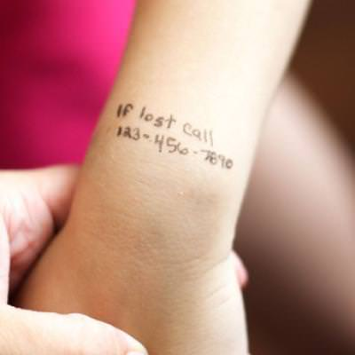 DIY Temporary Tattoos For Emergencies {Safety}
