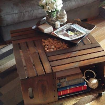 DIY Vintage Crate Coffee Table {Coffee Table Decor}