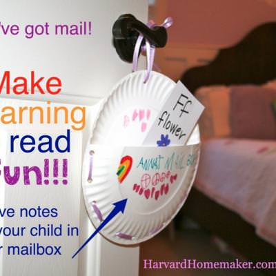 Doorknob Mailboxes {Learning to Read}