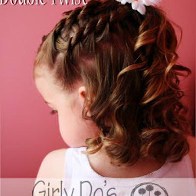 Double Twist Girly Girl Style {Hair Styles}