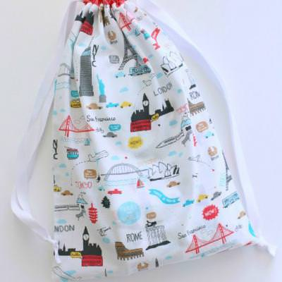 Drawstring Overnight Bag {Bags}