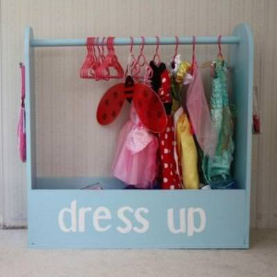 Dress Up Storage {Homemade Toys}