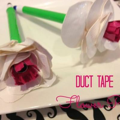 Duct Tape Flower Pen {gifts kids can make}