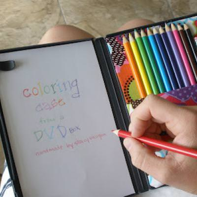 DVD Coloring Case Perfect for Traveling With Kids