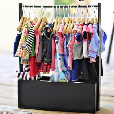 Easy Doll Clothing Storage Rack {Dolls & Toys}