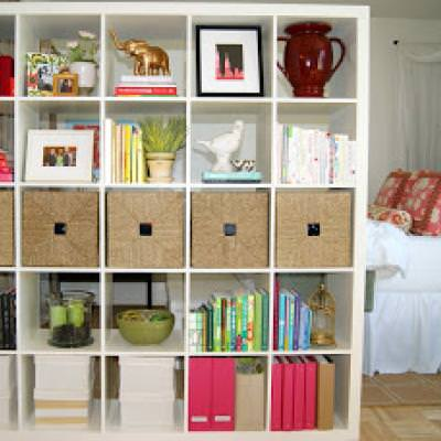 Expedit Bookshelf Room Divider {Room Dividers}