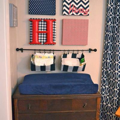 Fabric Covered Canvas Nursery Art {Fabric Art}